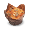 Mrkvový muffin s tekvicovým posypom